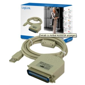 Logilink USB 2.0 to paralel (LPT) adapter: IEEE1248, USB 2.0 A