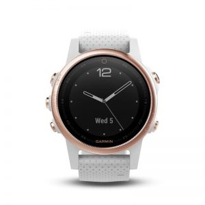 fēnix 5S Sapphire Rose gold tone with white band