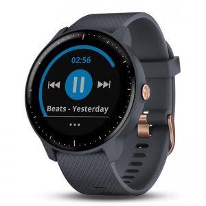 Pulsikell Vivoactive 3, Music, GPS, Garmin, tumesinine/kuldne