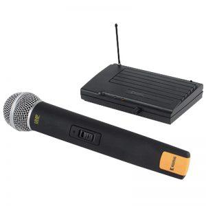Juhtmevaba mikrofon+saatja König, must