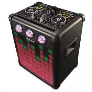 Mini muusikasüsteem Numark + int. kontroller, must