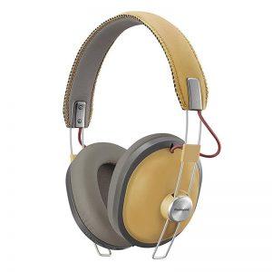 Juhtmevabad kõrvaklapid Panasonic, üle kõrva, retro, pruun