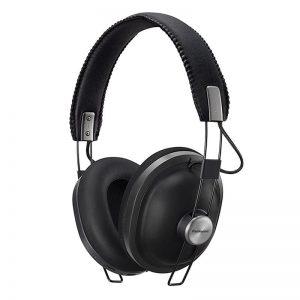 Juhtmevabad kõrvaklapid Panasonic, üle kõrva, retro, must