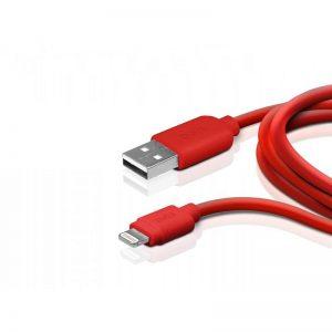 Juhe SBS USB->Lightning 1m, punane