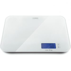 Caso Kitchen Scale L20 Maximum weight (capacity) 20 kg, White glass