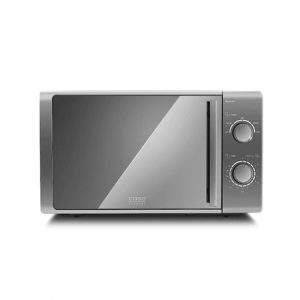 Caso M20 EASY Microwave Oven, Rotary, 700 W, Silver, Defrost function