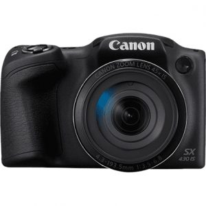 "Canon PowerShot SX430 Compact camera, 20 MP, Optical zoom 45 x, Digital zoom 4 x, Image stabilizer, ISO 1600, Display diagonal 3.0 "", Wi-Fi, Focus TTL, Video recording, Lithium Li-ion, Black"