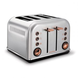 Morphy richards 242105 Brushed, Stainless steel, Number of slots 4, Number of power levels 7,