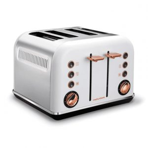 Morphy richards 242106 White, Stainless steel, Number of slots 4, Number of power levels 7,