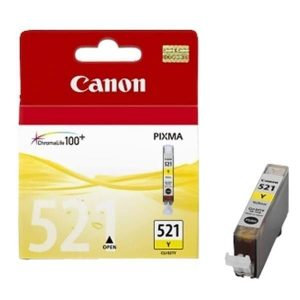 Tindikassett Canon CLI-521Y,kollane