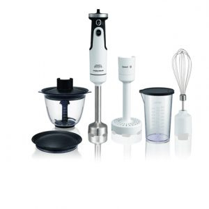 Hand Blender Morphy richards 402052 White, Hand Blender, 650 W, Number of speeds 8, Shaft material Stainless steel, Mini chopper, Mashed potatoes attachment, Ice crushing