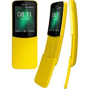 "Nokia 8110 Yellow, 2.4 "", TFT, 240 x 320 pixels, Dual SIM, Micro/Nano, 3G, Bluetooth, 4.1, USB version microUSB 2.0, Built-in camera, Main camera 2 MP, 1500 mAh"