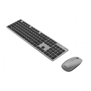 Asus W5000 Keyboard and Mouse Set, Wireless, Keyboard layout Russian, Grey, Wireless connection Mouse: USB, Mouse included, 460 g