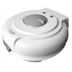 Adler Waffle maker AD 3038 White, 1500 W, Round, Number of waffles 1