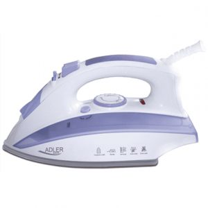 Iron Adler AD 5011 White/Purple, 2000 W, With cord, Anti-drip function, Anti-scale system, Vertical steam function, Water tank capacity 280 ml