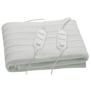 Adler Number of heating levels 2, Number of persons 2, Washable, Remote control, Polar fabric, 2×60 W, White