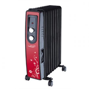 Adler AD 7802 Oil Filled Radiator, Number of power levels 2, 2000 W, Number of fins 9, Red/Black