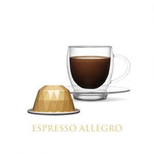 Belmoca Allegro Coffee Capsules, 10 capsules, Coffee strength 4/12, 55 g