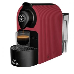 Belmoca Espresso Machine Belmio Bravissima  Pump pressure 19 bar, Capsule coffee machine, 1400 W,  Berry Red