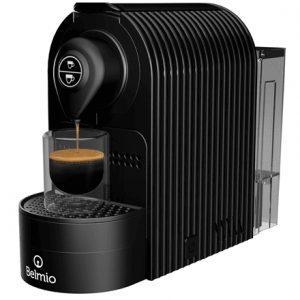 Belmoca Espresso Machine Belmio Bravissima  Pump pressure 19 bar, Capsule coffee machine, 1400 W, Onyx Black