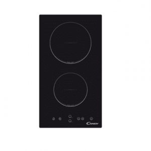 Candy Domino CDH 30 Vitroceramic, Number of burners/cooking zones 2, Black, Display, Timer