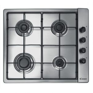Candy CLG 64 SPX Gas, Number of burners/cooking zones 4, Stainless steel,