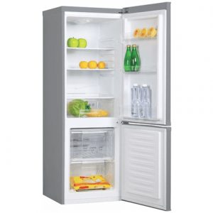 Candy Refrigerator  CMFM 5142S  Free standing, Combi, Height 144 cm, A+, Fridge net capacity 119 L, Freezer net capacity 42 L, 42 dB, Silver