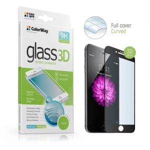 ColorWay 9H 3D Black CW-GSREAI73DB Screen protector, Apple, 6/6s/7/7s, Tempered glass, Transparent