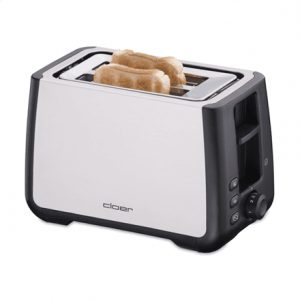 CLoer Toaster 3569 Stainless steel / black, Stainless steel, plastic, 1000 W, Number of slots 2, Bun warmer included
