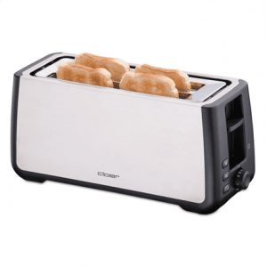 CLoer Toaster 3579 Stainless steel / black, Stainless steel, plastic, 1800 W, Number of slots 4, Bun warmer included