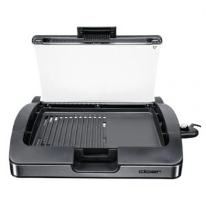 Barbecue Grill with glass lid CLoer 6725  Black, 2200 W