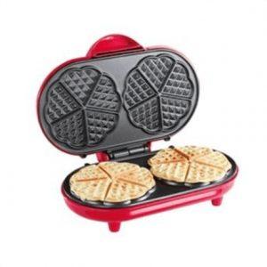 DomoClip Waffle maker DOP144 Pink, 1000 W, Heart shape, Number of waffles 2