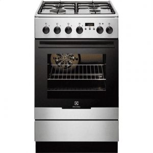 Electrolux Cooker EKK54552OX Hob type Gas, Oven type Electric, Stainless steel, Width 50 cm, Depth 60 cm, 54 L