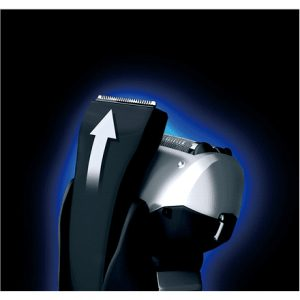 Panasonic Shaver ES-RT37-S503 Wet use, Rechargeable, Charging time 1 h, Li-Ion, Battery powered, Number of shaver heads/blades 3, Silver/ blue