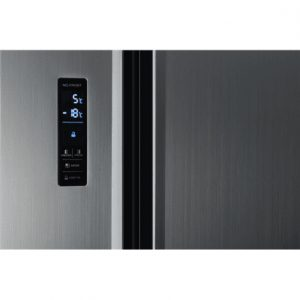 ETA Refrigerator ETA138890010 Free standing, Side by Side, Height 177 cm, A+, No Frost system, Fridge net capacity 291 L, Freezer net capacity 145 L, Display, 43 dB, Silver