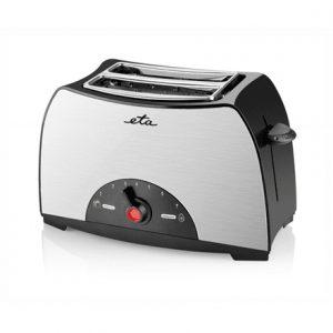 ETA Toaster ETA216690000 Black / Stainless Steel, Stainless steel, plastic, 800 W, Number of slots 2, Number of power levels 7,