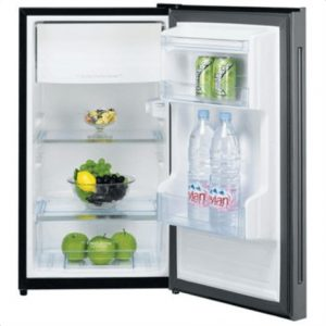 DAEWOO Refrigerator FN-15B2B Free standing, Table top, Height 88 cm, A+, Fridge net capacity 100 L, Freezer net capacity 15 L, 43 dB, Black glass