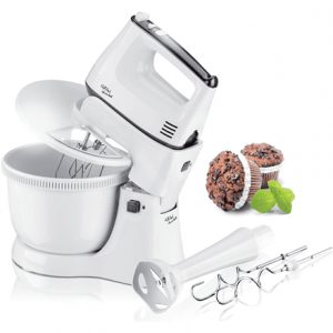 Gallet Mixer with the stand and bowl GALMIX432 White, Handheld, 300 W, Number of speeds 5, Mashed potatoes attachment,