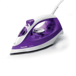 PHILIPS GC1433/30 Steam Iron Philips Steam Iron Violet, 2000 W, Continuous steam 25 g/min, Anti-scale system, Vertical steam function, Water tank capacity 220 ml