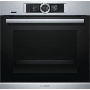 Bosch Home connect oven HBG656ES6 Multifunction, 71 L, Stainless steel/ black, Ecolyse, Electronic, Height 60 cm, Width 60 cm, Yes, Built in