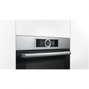 Bosch Oven HBG6764S1 Multifunction, 71 L, Stainless steel/ black, Pyrolysis, Rotary and electronic, Height 60 cm, Width 60 cm, Built in
