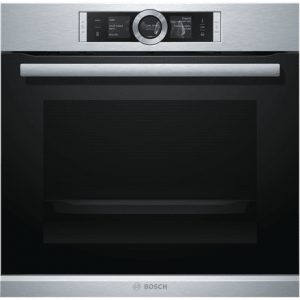 Bosch Oven HRG656XS2 Steam function, Multifunction, 71 L, Stainless steel/ black, EcoClean, Electronic, Height 60 cm, Width 60 cm, LED, Built in