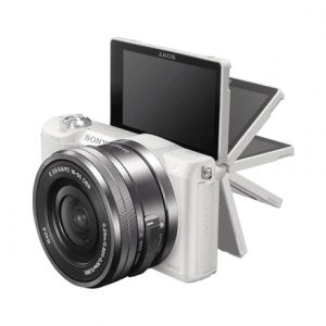 """Sony ILCE5100LW.CEC Body + 16-50mm lens Mirrorless Camera Kit, 24.3 MP, ISO 25600, Display diagonal 7.62 """", Video recording, Wi-Fi, TTL, Magnification 0.215 x, CMOS, White, Image sensor size (W x H) 23.5 x 15.6 """", Image stabilization supported on lens"""