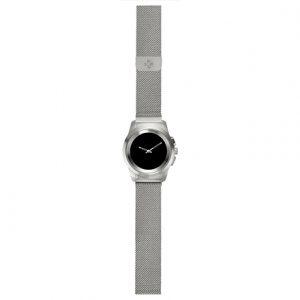 MyKronoz Smartwatch ZeTime Elite Regular Brushed Silver/Milanese, 200 mAh, Touchscreen, Bluetooth, Heart rate monitor, Waterproof,