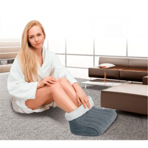 Foot warmer Lanaform LA180401 Number of heating levels 3, Washable, 100% polyester, 100 W, Grey, White