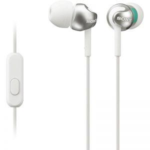 Kõrvaklapid Sony, in-ear+mikr. valge