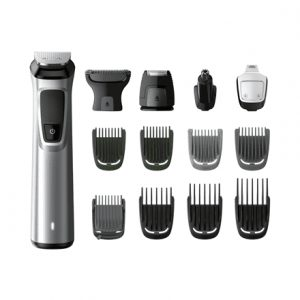 Philips Warranty 24 month(s), Wet & Dry, stubble combs (1,2 mm) , 1 adjustable beard comb (3-7 mm) and 3 hair combs (9,12,16 mm)., Waterproof, Battery level indicator, Multigroom series 7000 14-in-1, Cordless