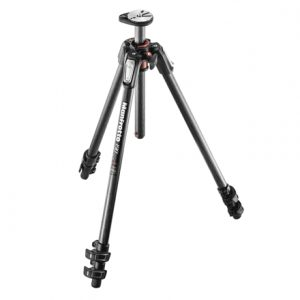 Manfrotto 190 Carbon Fibre 3-Section camera tripod 61 cm, 160 cm, 7 kg, Number of legs 3