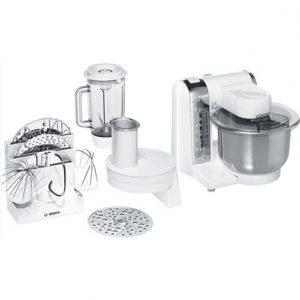Bosch Food processor MUM48CR1 Stainless steel, White, 600 W, Number of speeds 4, Blender,