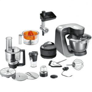 Bosch Food processor MUM59M55  Black/ silver, 1000 W, Number of speeds 7, 3,9 L, Blender, Meat mincer